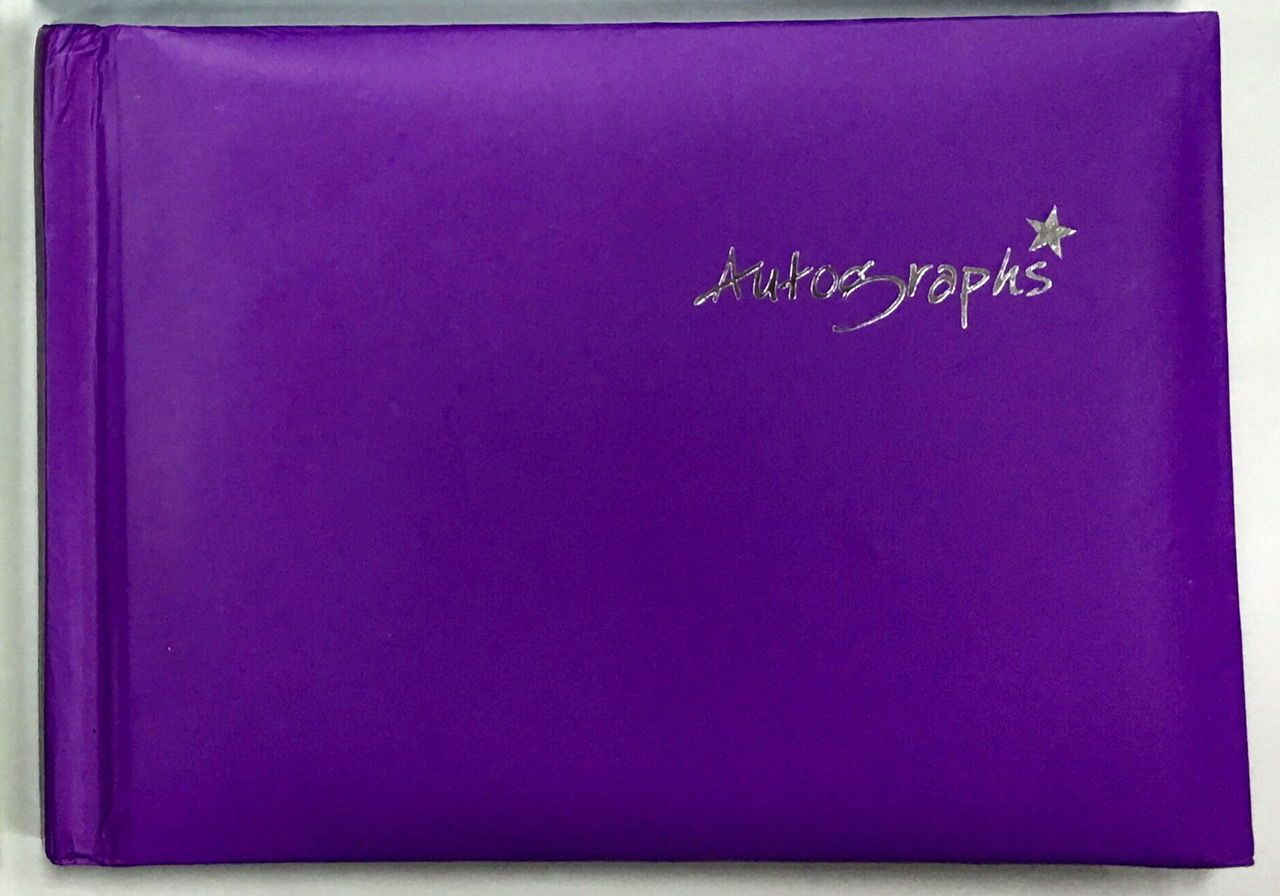 Purple Autograph Book 100 pages - Signature End of Term School Leavers