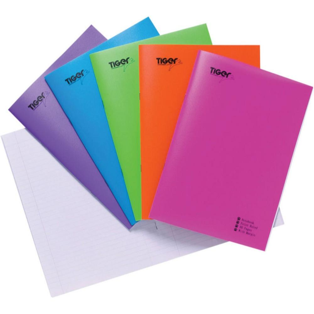 Pack of 10 A5 Bright Polypropylene Cover Exercise Books