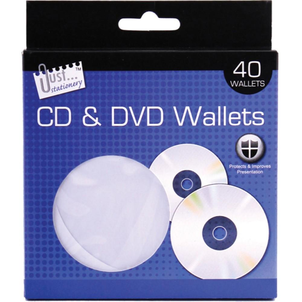 40 CD/DVD Wallets with window