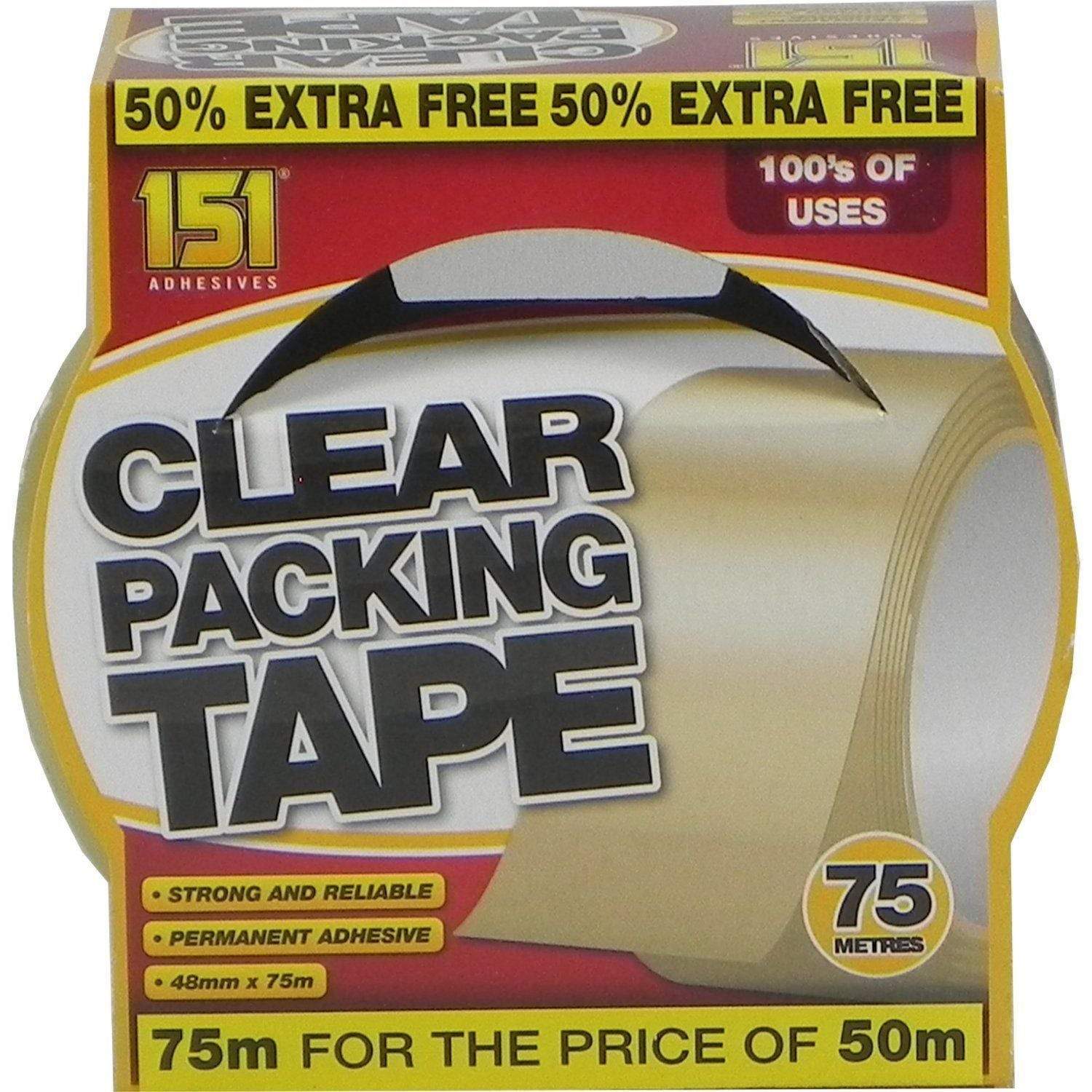 Clear Packing Tape 48mm x 75m