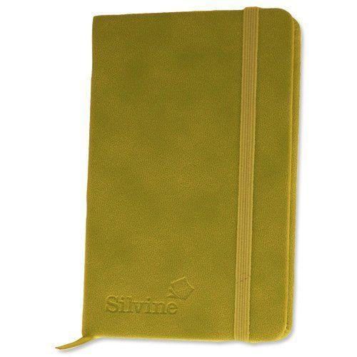 Executive Soft Feel Notebook Ruled with Marker Ribbon 143x90mm - Assorted Colour