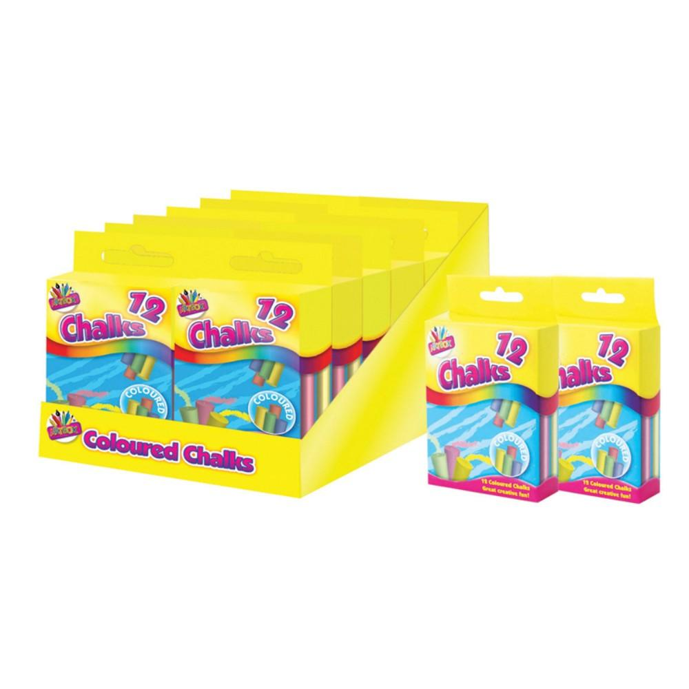 12 Coloured Chalks In hanging box