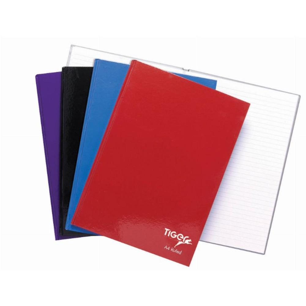 5 x Casebound A4 80 Sheet Notebooks