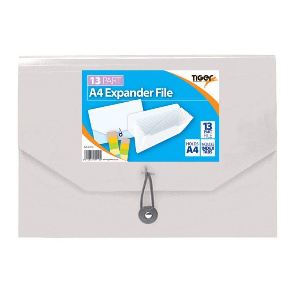 A4 13 Part Expander File Clear