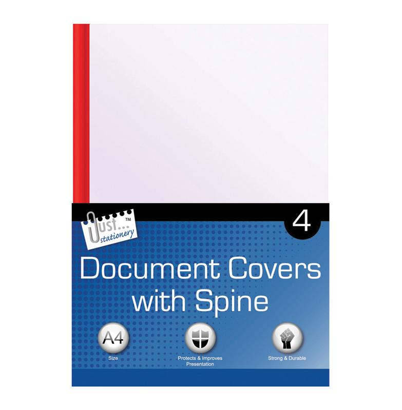 4 A4 Clear document Covers & Spines