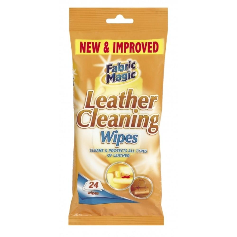 Fabric Magic Leather Cleaning Wipes (24 Wipes)