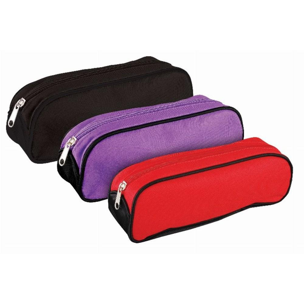 Oval Wedge Shaped Pencil Case