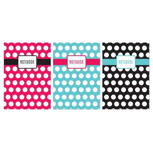A6 Polka Dot Design 120 Page Notebook