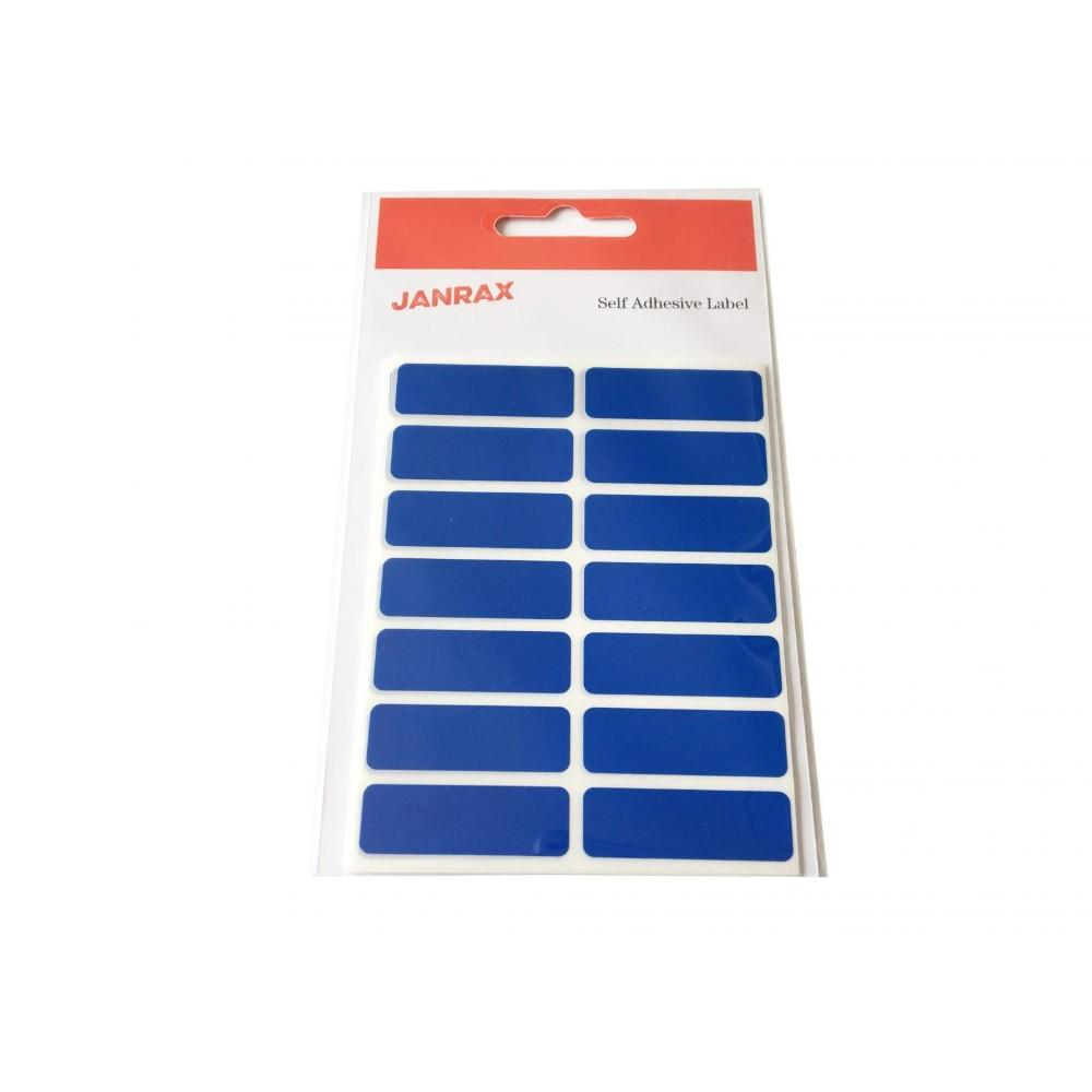 Pack of 98 Blue 12x38mm Rectangular Labels - Adhesive Stickers
