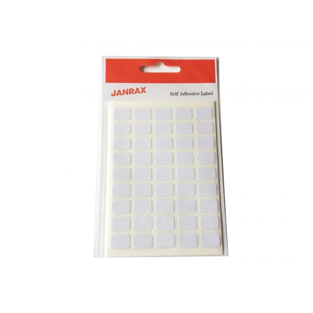 Pack of 315 White 9x13mm Rectangular Labels - Adhesive Stickers