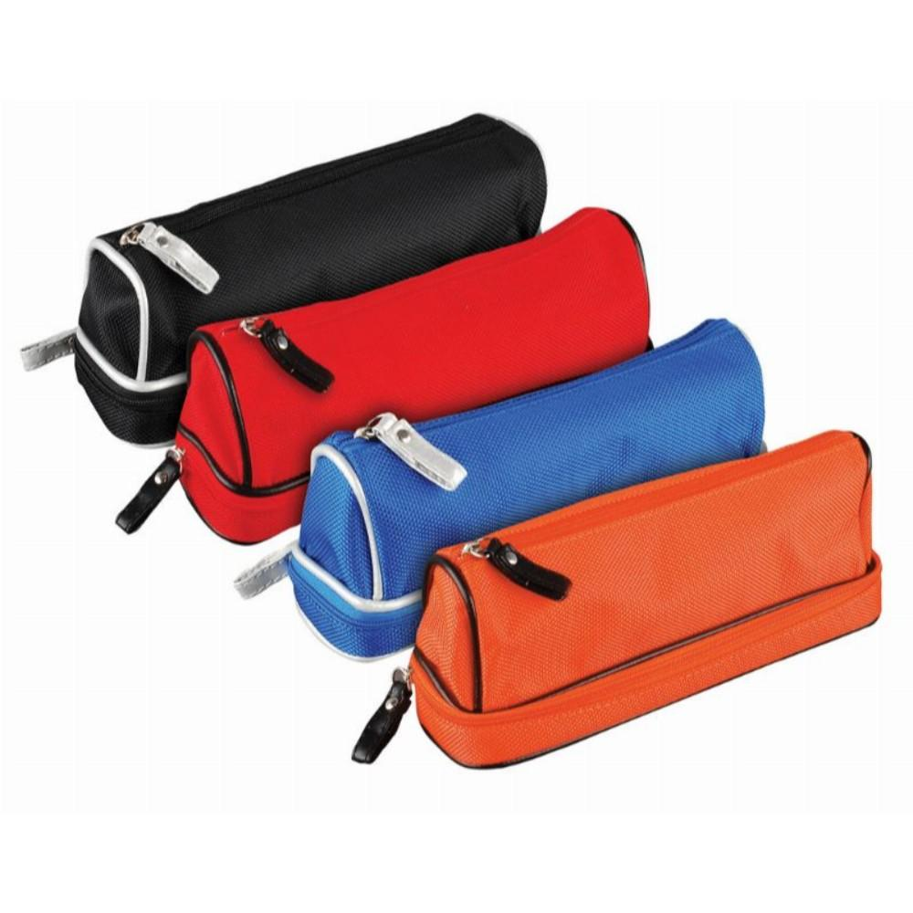 Dome Double Zip Shaped Pencil Case