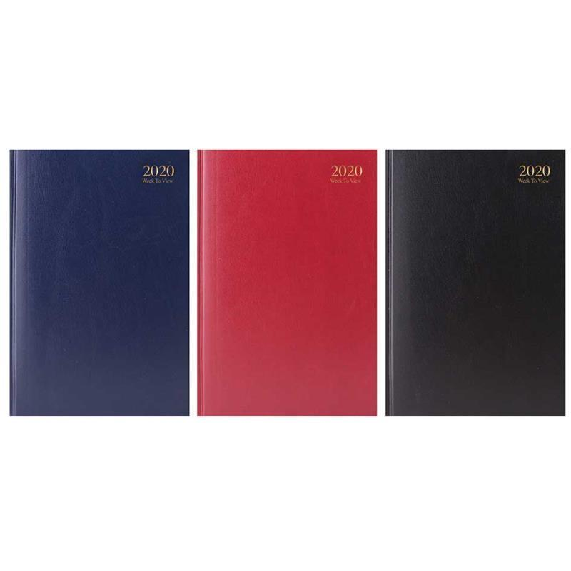 2020 A4 Week to View Hardback Value Range Diary