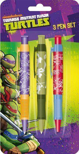 Teenage Mutant Ninja Turtles 3 Ballpoint Pen Set