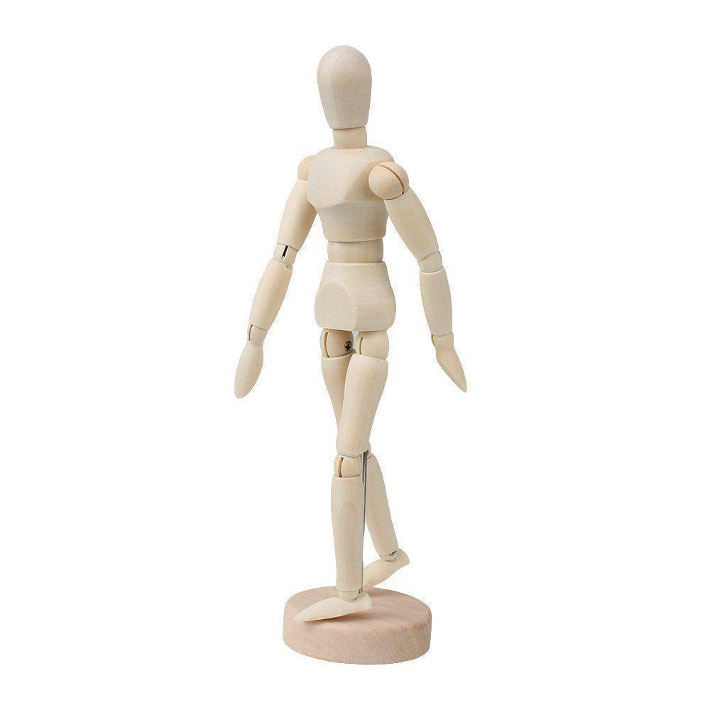 "12"" Moveable Adjustable Limbs Human Mannequin Art"