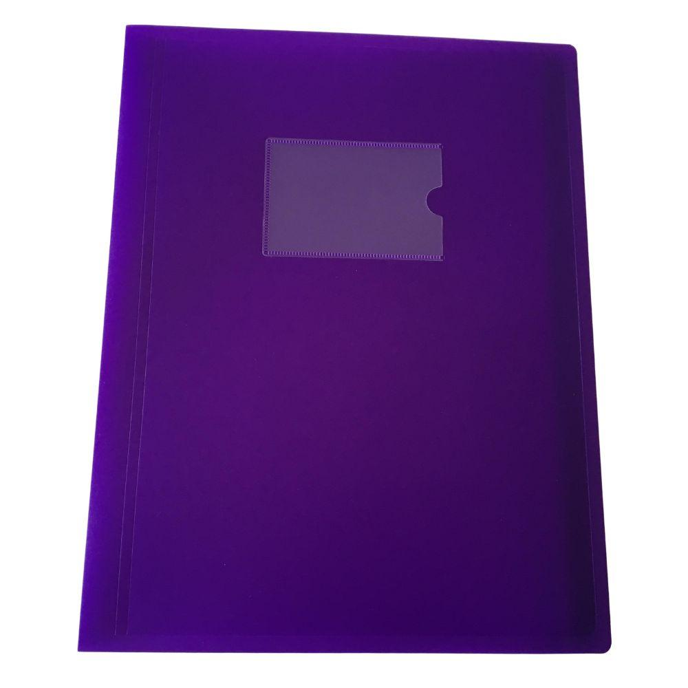 A4 Purple Flexible Cover 60 Pocket Display Book
