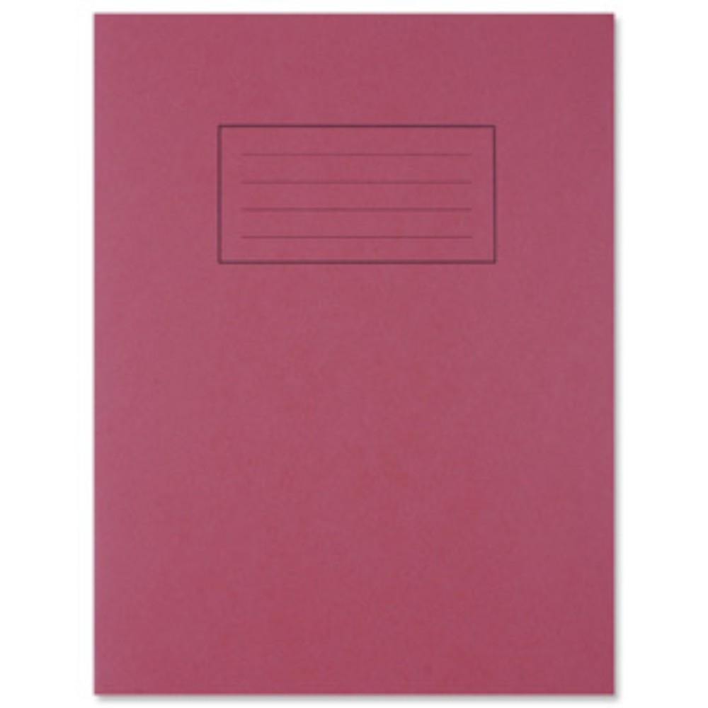 "9""x7"" Red Exercise Book - Lined with Margin"