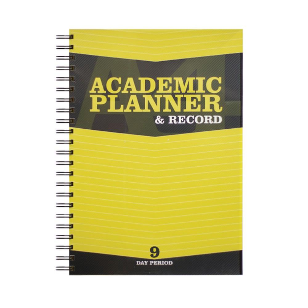 A4 Teacher's 9 Period Yellow Academic Planner and Record