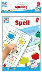 Pack of 20 A5 Wipe-Clean worksheets with pen - Learn to Spell