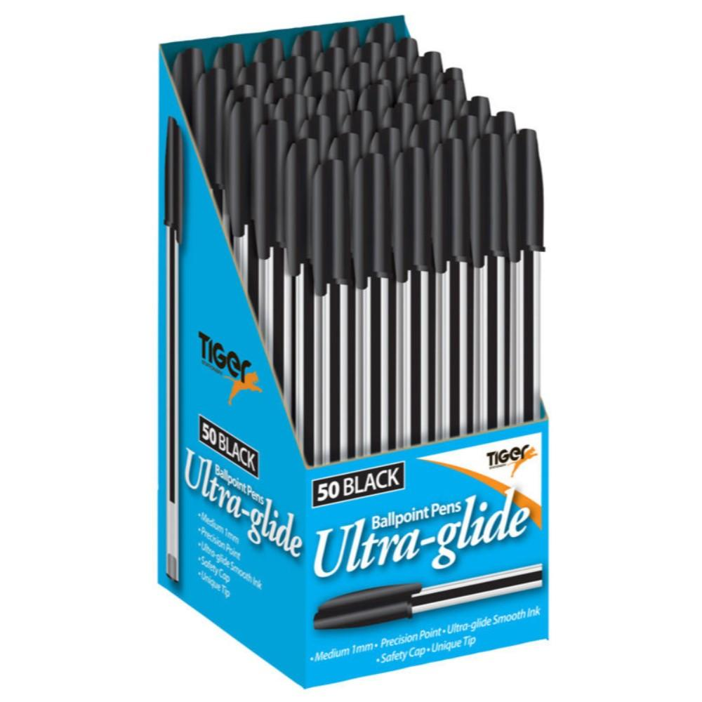 Box of 50 Black Ultra Glide Ballpoint Pens