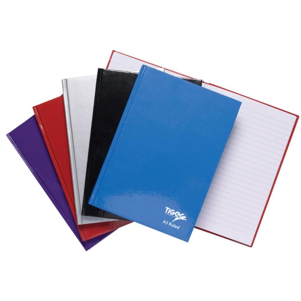 5 x Casebound A5 80 Sheet Notebooks