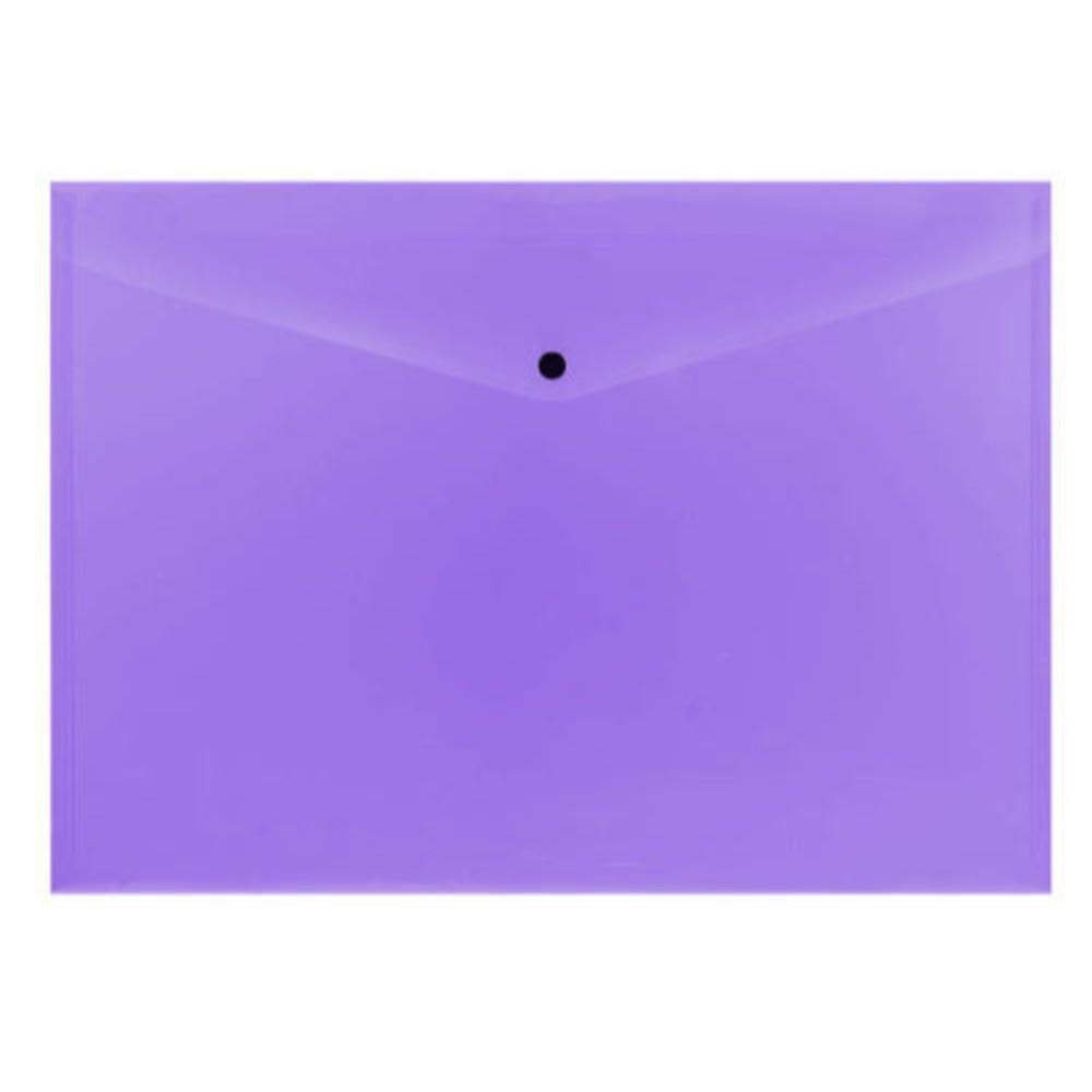 Pack of 12 A4 Purple Plastic Document Wallets by Janrax
