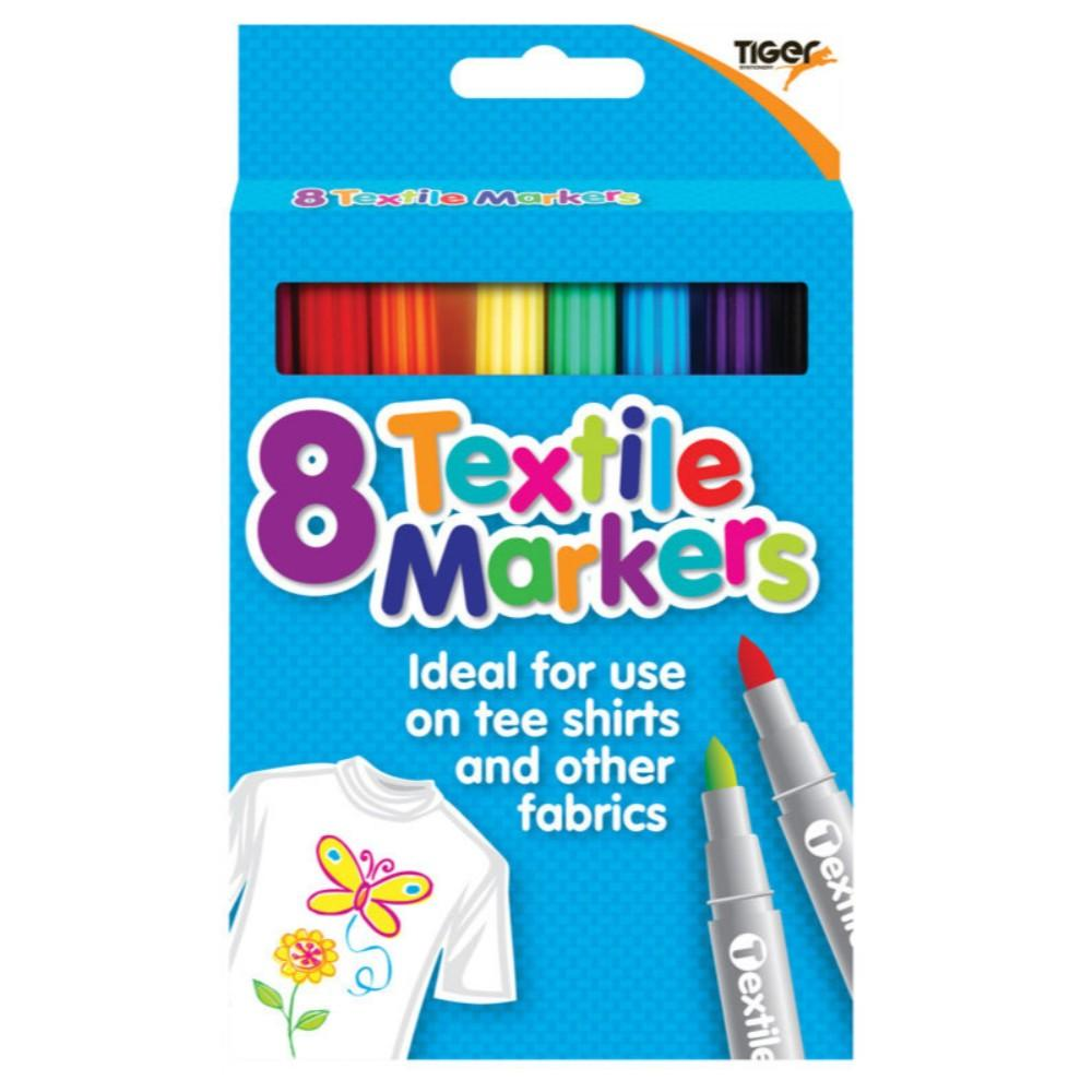 Pack of 8 Coloured Fabric Textile Markers