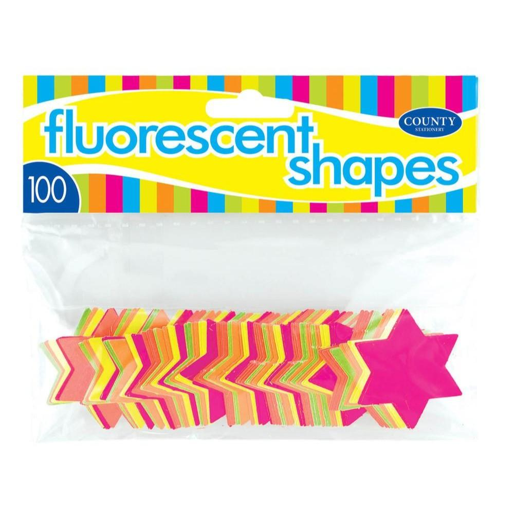 100 Fluorescent Star Shapes 42mm