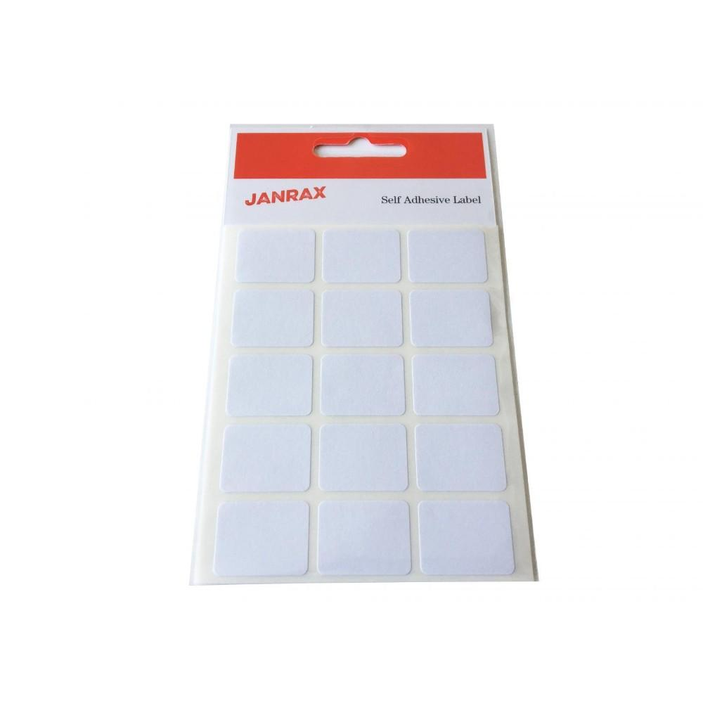 Pack of 120 White 19x25mm Rectangular Labels - Adhesive Stickers