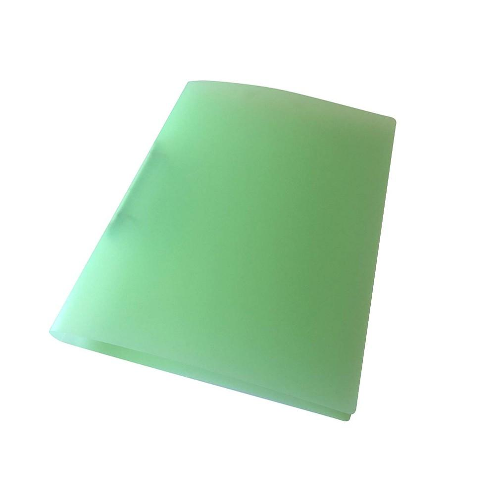 A4 Slim Green Translucent Ringbinder