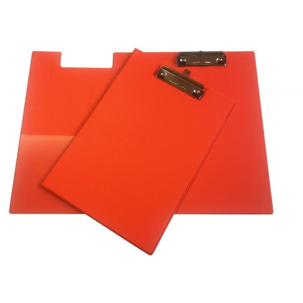 Janrax A4 Neon Orange Foldover Clipboard