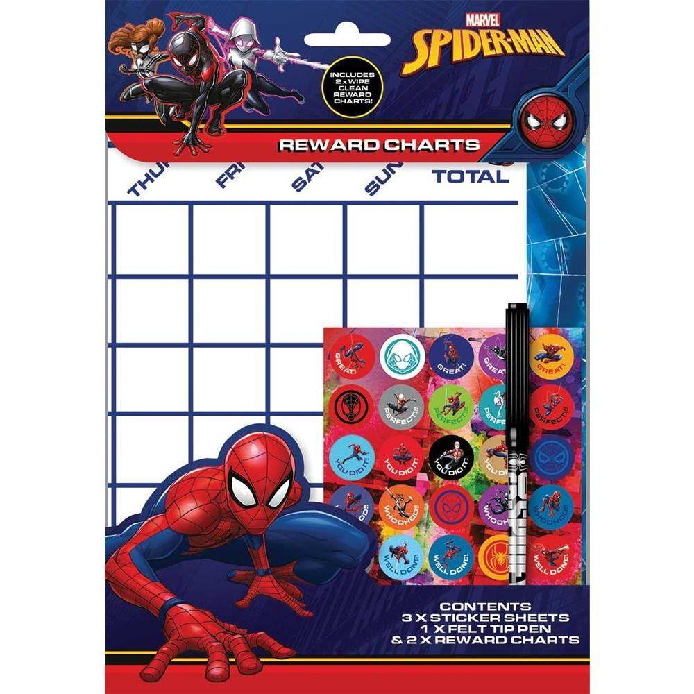 Ultimate Spiderman Reward Charts Sheets with Stickers