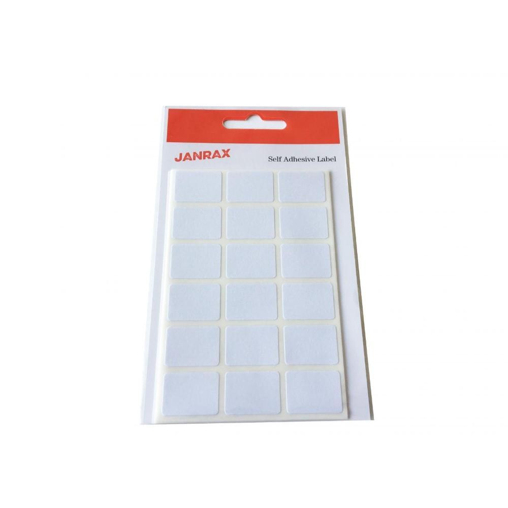 Pack of 126 White 16x22mm Rectangular Labels - Adhesive Stickers