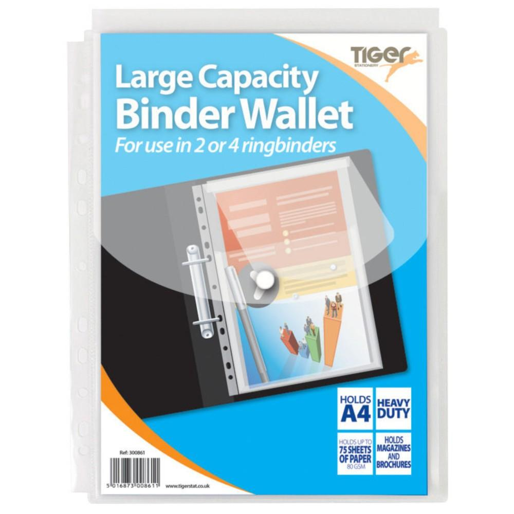 5 x A4 Large Capcity Ring Binder Wallet