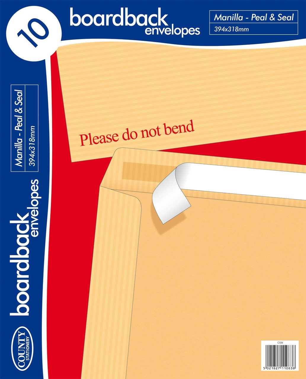 Pack of 10 394x318 Board Back Envelopes