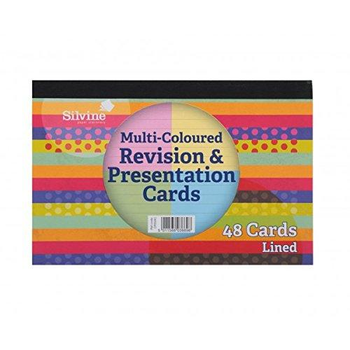 Pack of 48 Silvine Revision & Presentation Cards Ruled