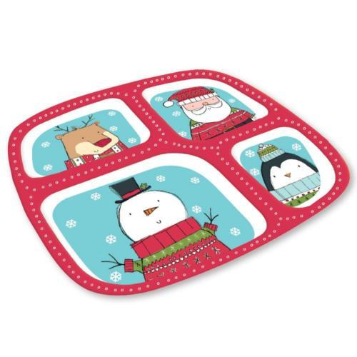 Christmas party 4 Section Melamine Tray
