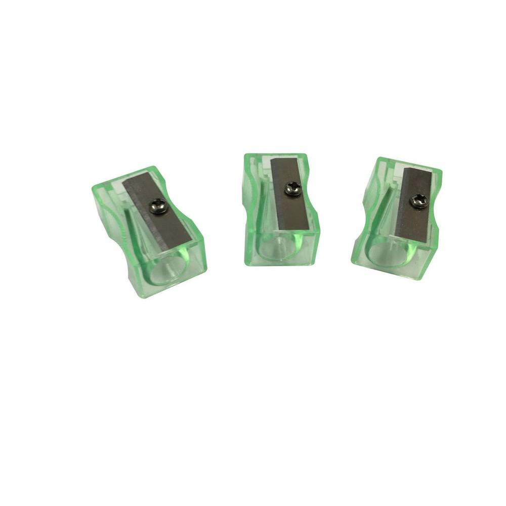 Pack of 100 Green Translucent Pencil Sharpeners