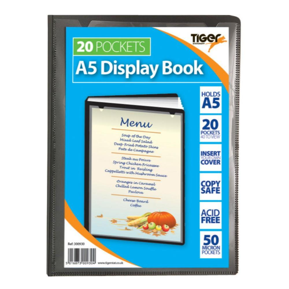 Tiger A5 20 Pocket Presentation Display Book