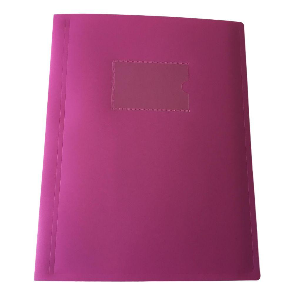 A4 Pink Flexible Cover 20 Pocket Display Book