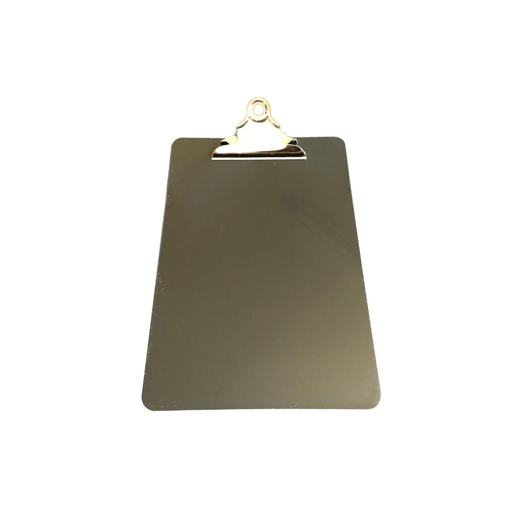 Black A5 Clipboard with Butterfly Clip with Ruled Side