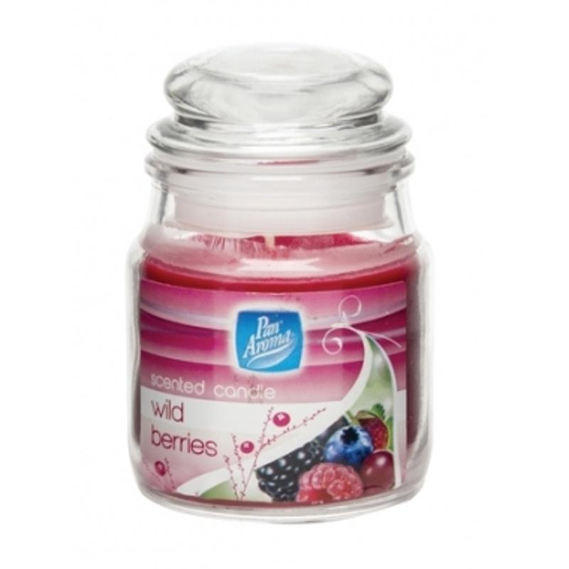 Pan Aroma Small Jar Candle With Lid - Wild Berries