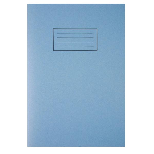 Pack of 100 Tough Shell Covers A4 Blue Exercise Books - Ruled with Margin