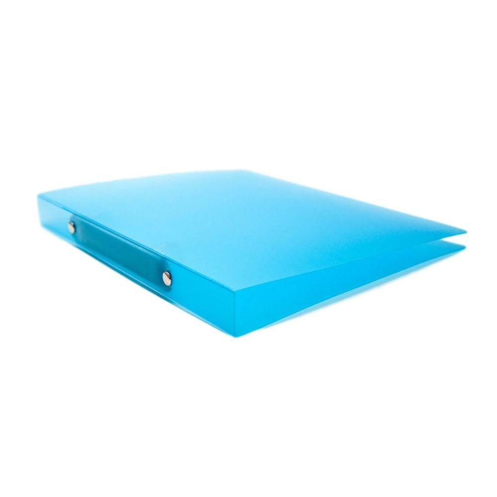 A4 Slim Blue Translucent Ringbinder - Filing Ring Binder Storage