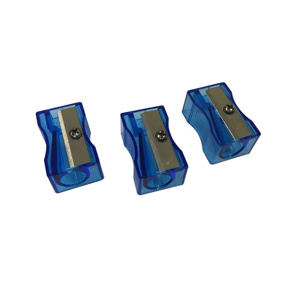 Pack of 100 Blue Translucent Pencil Sharpeners
