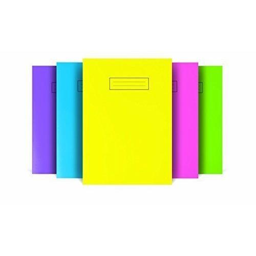 Silvine A4 Colour Essentials Laminated Cover Wipe Clean Exercise Books