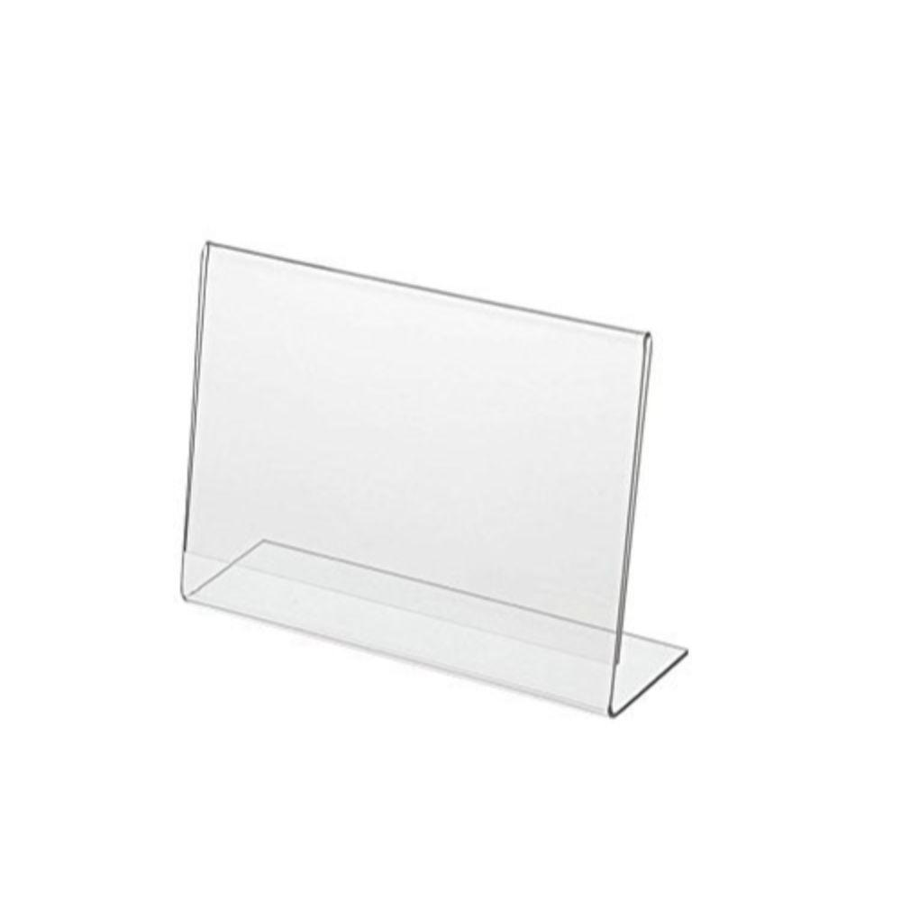 Pack of 10 Horizontal 7x5 inch L Shape Acrylic Photo Frame - Sign Holder