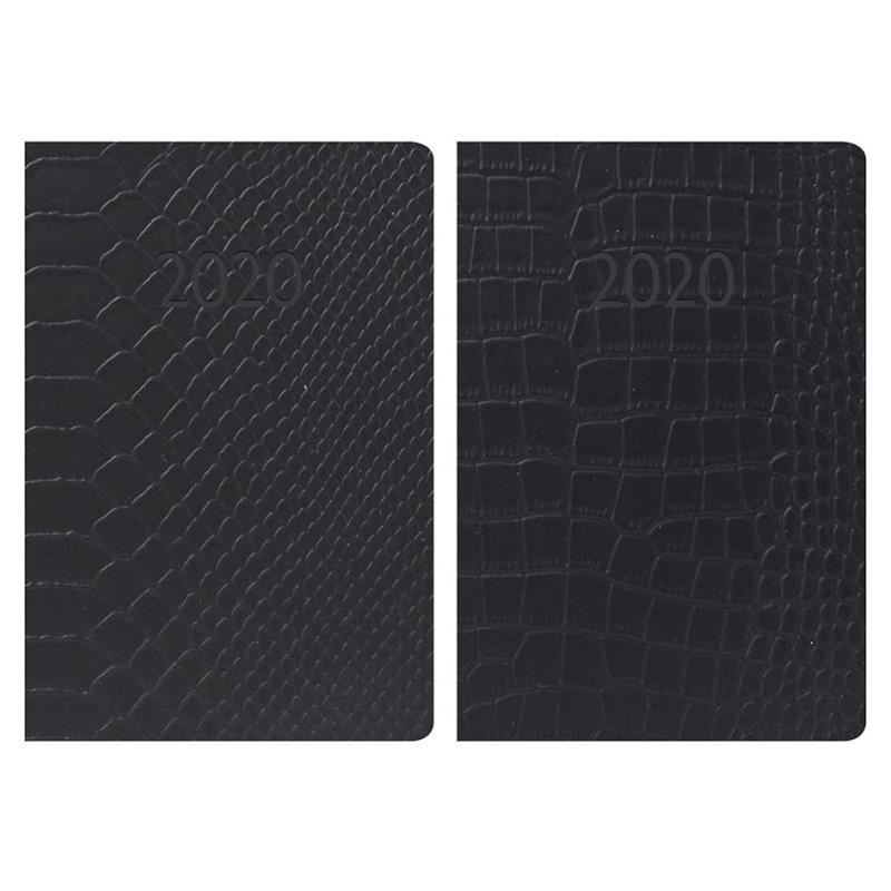 2020 Week to View Pocket Diary - Embossed Textured Leatherette Design