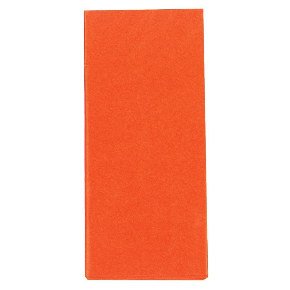 Orange Crepe Paper Folded 1.5m x 50cm