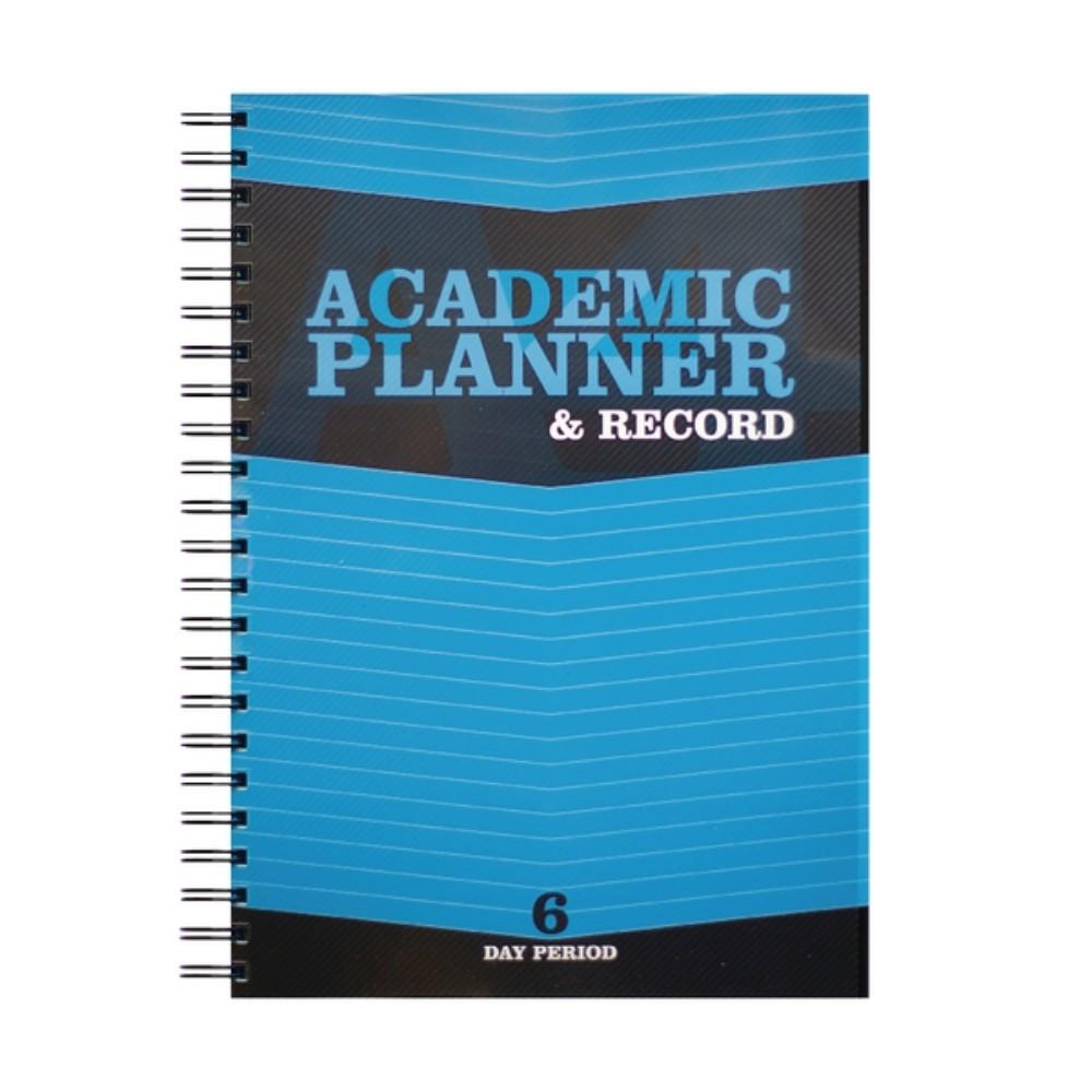A4 Teacher's 6 Period Blue Academic Planner and Record