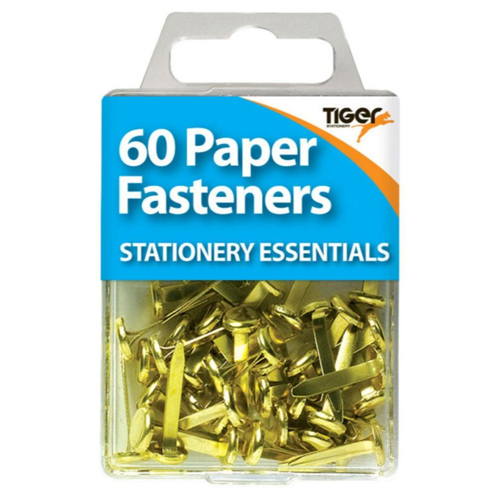 Pack of 60 Brass Paper Fasteners